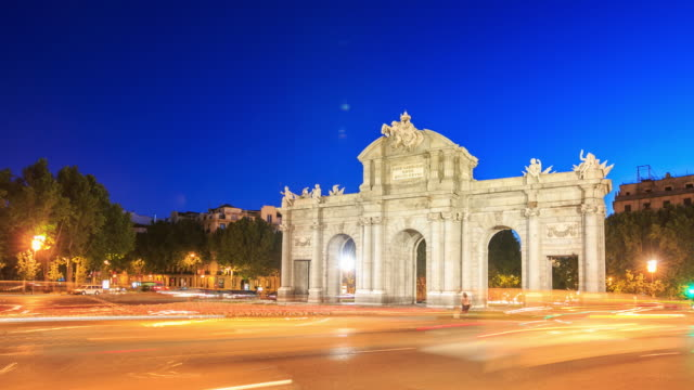 Time Lapse : Puerta de Alcala, Madrid video