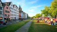 4K Time Lapse : Rhine promenade video