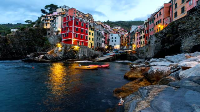 Time Lapse: Riomaggiore one of the famous cinque terre liguria italy video