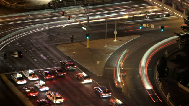 time lapse road rush at night video