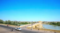 4K Time Lapse : Roman bridge in Cordoba. video