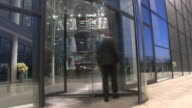 Time lapse rotating offices doors video