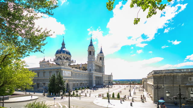 4K Time Lapse : Royal Palace of Madrid video