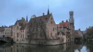 4K Time Lapse : Rozenhoedkaai in Brugge video
