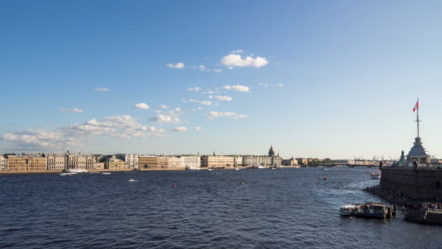 Time Lapse - Saint Petersburg with the Neva River video