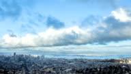 Time Lapse- San Francisco Panoramic Skyline video