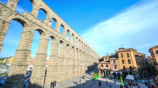 4K Time Lapse : Segovia aqueduct video
