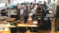 Time Lapse Sequence Of Busy Architects Office video