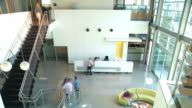 Time Lapse Sequence Of Busy Office video