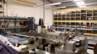 Time Lapse Sequence Of Factory Engineer Operating Equipment video