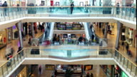 Time Lapse Sequence Of Shoppers In Mall video