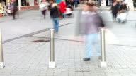 Time Lapse Sequence Of Shoppers On Busy Street video