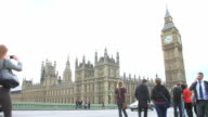 Time Lapse Sequence Showing House Of Parliament And Tourists video