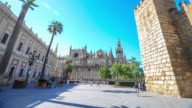 4K Time Lapse : Seville cathedral. video