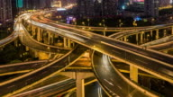 Time Lapse- Shanghai Highway at Dawn, from Night to Day (Panning) video