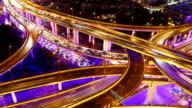 Time Lapse - Shanghai Highway at Night (Panning) video