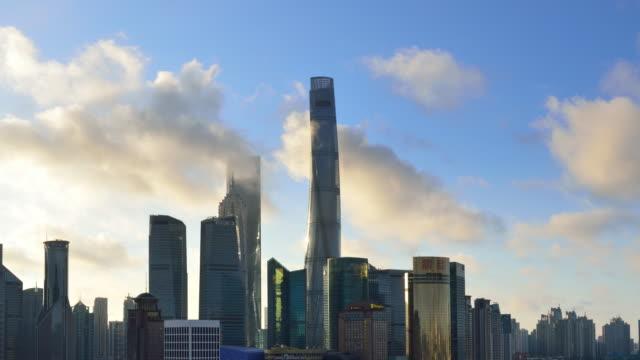 4K Time lapse: Shanghai Landmark Skyscraper video