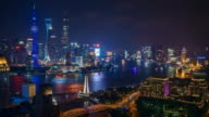 Time Lapse - Shanghai Skyline at Night video