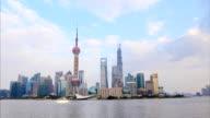 Time Lapse - Shanghai Skyline at Twilight video