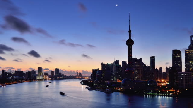 Time Lapse - Shanghai Skyline from Sunrise video