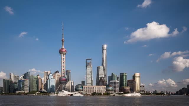 Time Lapse - Shanghai Skyline (Panning) video