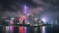 Time Lapse- Shanghai Skyline (LR Pan) video