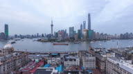 Time Lapse  Shanghai skyline,day to night video