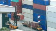 4K Time Lapse : Shipping Containers video