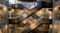 Time Lapse Shopping Mall Escalator video