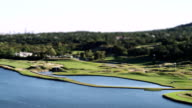 Time lapse shot of a golf course - miniature video