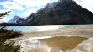 Time lapse shot of beautiful mountain lake scenery video