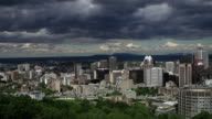 Time lapse shot of Montreal downtown video