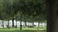 Time lapse shot of people in a park, Delhi, India video