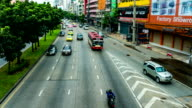 Time Lapse shot of Traffic Jam on Street, Bangkok, Thailand. video