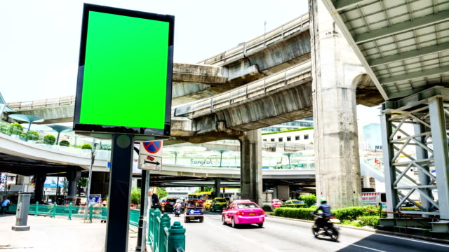 Time lapse: Siam city center at showing busy roads with traffic / Bangkok, Thailand video