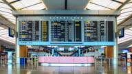 4K Time Lapse : singapore airport video