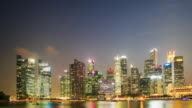 4K Time Lapse : Singapore business district video