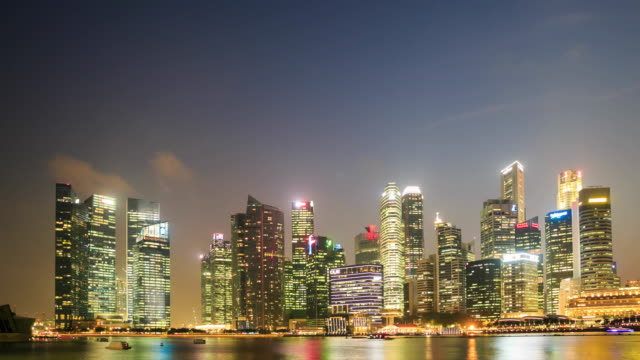 4K Time Lapse : Singapore business district video
