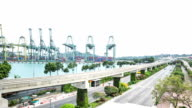 Time lapse : Singapore commercial port video