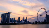 Time lapse : Singapore Skyline and view of Marina Bay video