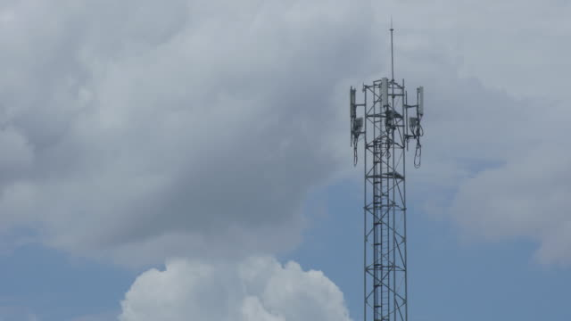 Time lapse sky and telephone tower video