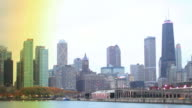 Time lapse Skyline Chicago, USA video