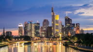 4K Time Lapse : Skyline Of Frankfurt Am Main video