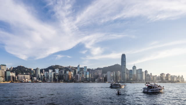 Time Lapse - Skyscrapers in Hong Kong (Zoom In) video