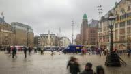 4K Time Lapse : Square of Bruges video