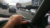 Time lapse steering wheel point of view driving in Karangahape Road Auckland New Zealand video