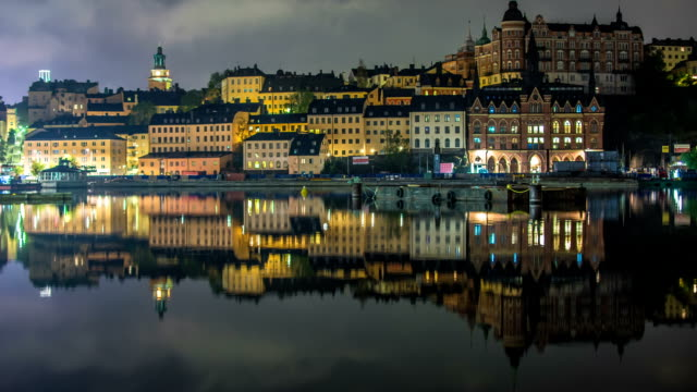 HD Time Lapse: Stockholm City Buildings on Hill Tilt video
