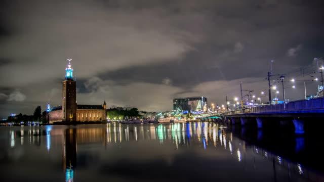 HD Time Lapse: Stockholm City Hall and Bridge Tilt video
