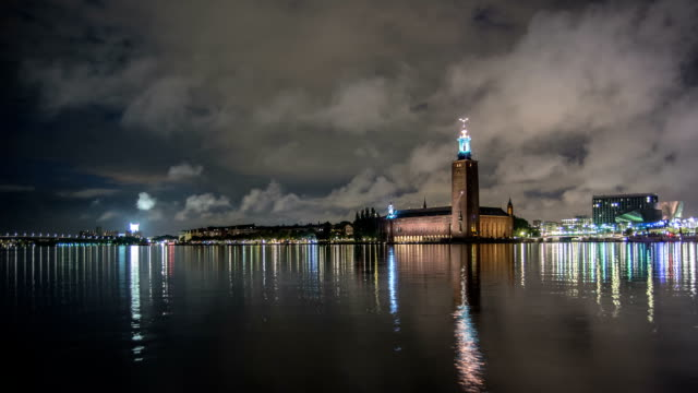 HD Time Lapse: Stockholm City Hall Waterfront video