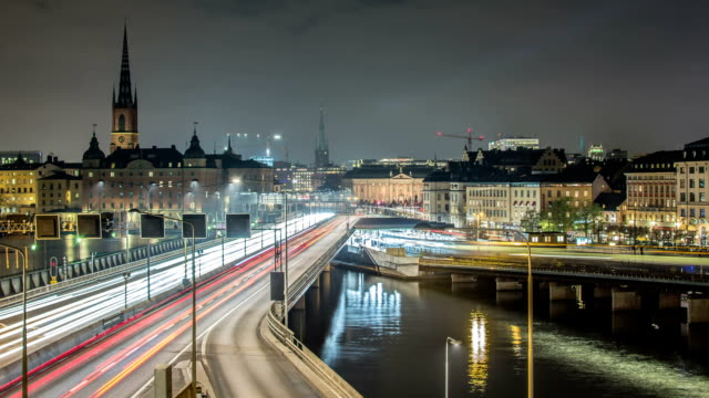 HD Time Lapse: Stockholm City Motion video